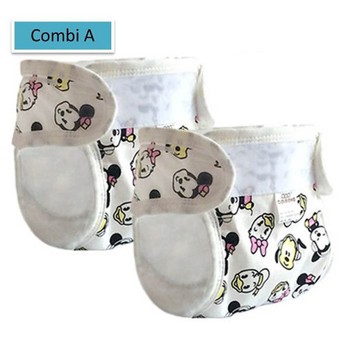 [Clearance Sale] Mickey Minnie Design Diaper Pant (2pcs Pack)