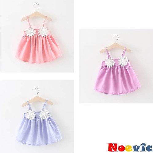Charming Flowers Sleeveless Baby Dress