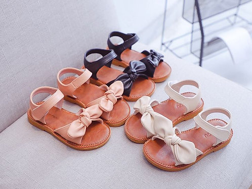 Trendy Butterfly Ribbon Leather Sandal