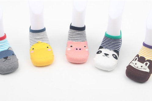 Animal Design Non Slip Socks (5 pairs)