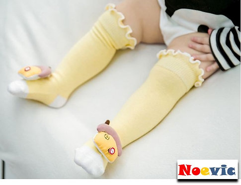 Cute Animal Figure Long Socks for Baby (2 pairs)