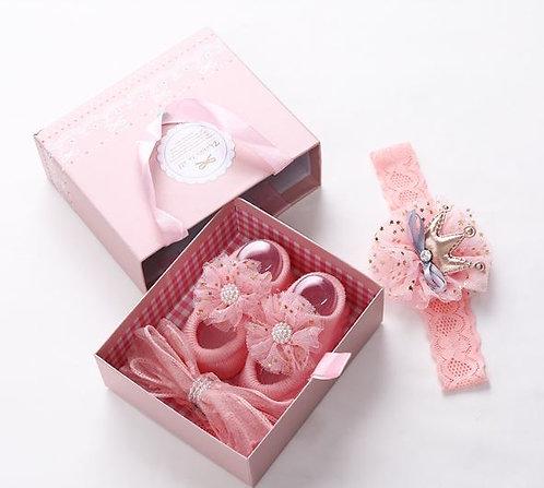 Little Girl Headband and Shoe Gift Set