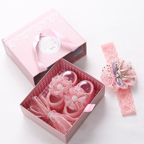 Little Girl Headband and Shoe Gift Set