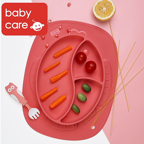 Babycare Baby Silicone Plate
