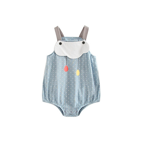 Cute Sleeveless Small Polka Dots Suspender Like Romper/Bodysuits