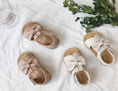 Cute Ribbon Leather Sandal for Little Girl