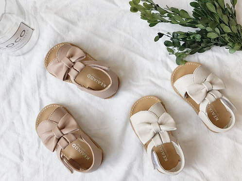 [Clearance Sale] Cute Ribbon Leather Sandal for Little Girl