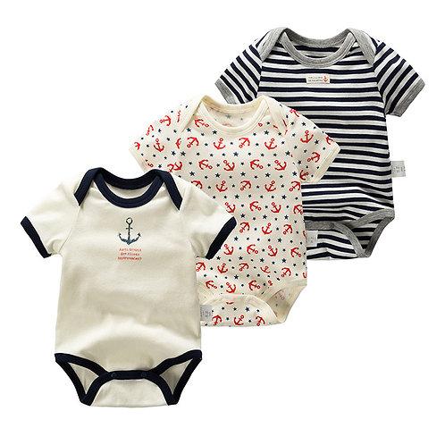 3pcs Set Singlet Romper for Baby Girl