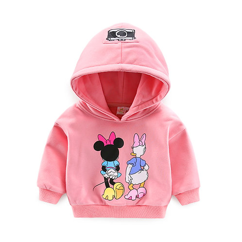 Minnie & Daisy Friend Pink Hoodie for Little Girl