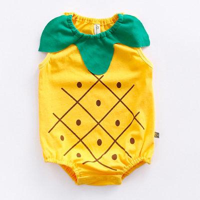 Pineapple Design Yellow Green Romper/Bodysuits