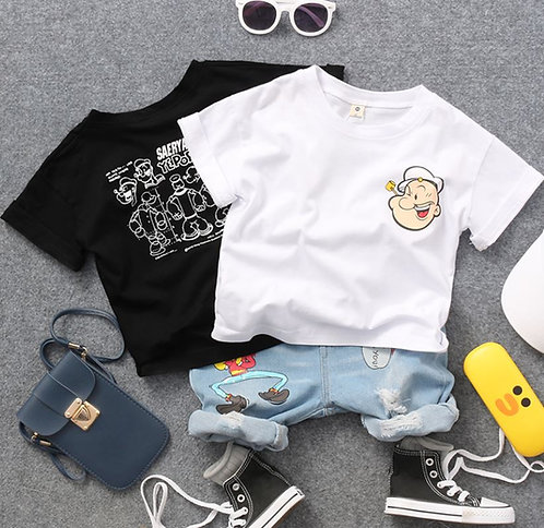 Popeye Top Shirt for Toddler/Baby Girl & Boy