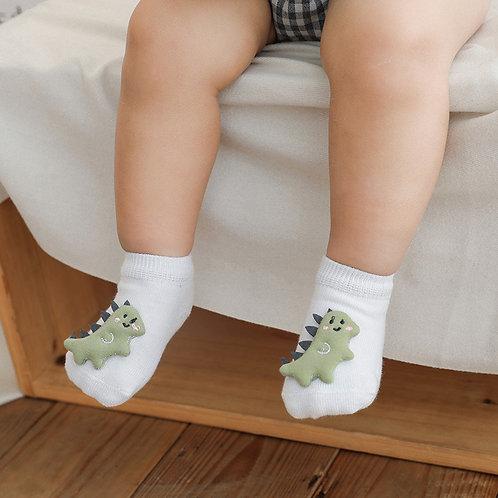 3D Animal Anti-Slip Baby Socks (3 Pairs)