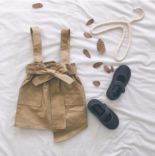Trendy Suspender Ribbon Dress for Little Girl