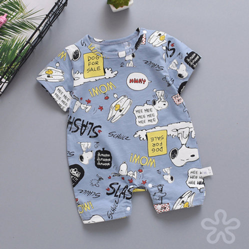 Snoopy Comic Design Short Sleeve Romper/Bodysuits