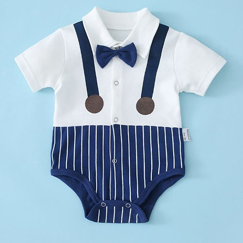 [Clearance Sale] Little Gentleman Romper with Bowtie for Baby Boy