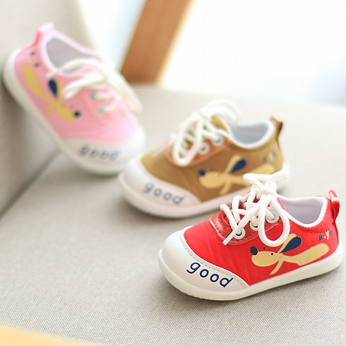 Puppy Design Cover Shoe with Adjustable ShoeLace for Little Boy & Girl