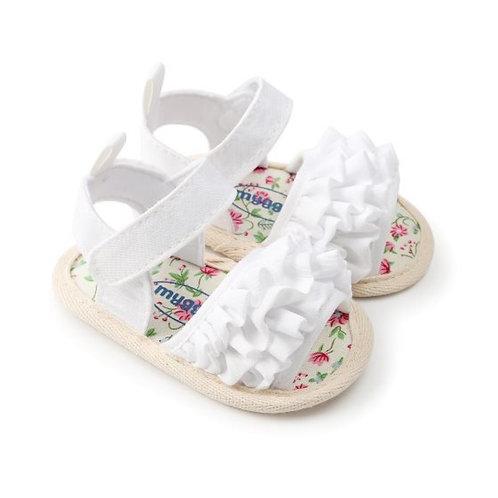 White Flare Design Baby Girl Sandal