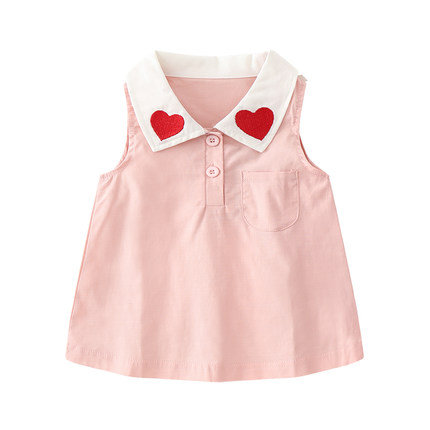 Simple Love Collar Dress for baby Girl/Toddler