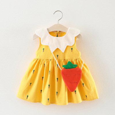 Little Carrot Dress with Carrot Handbag