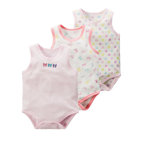 3pcs Set Singlet Romper for Baby Girl