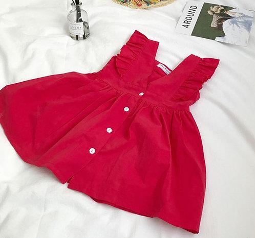 Sweet Summer Low Cut Back Dress for Little Girl