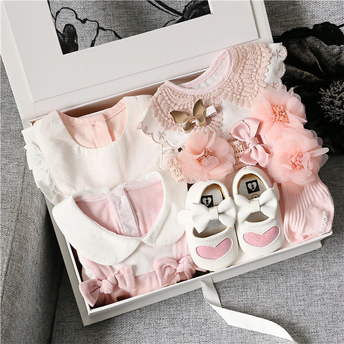 Full Set Pinkish Baby Girl Gift Box