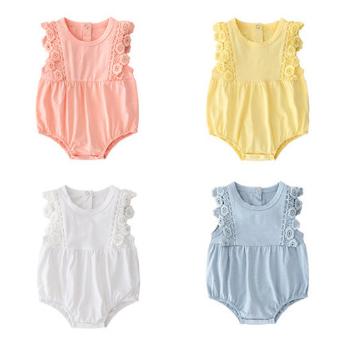 [Clearance Sale] Lace Design Baby Girl Romper/Bodysuits