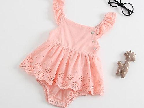 [Clearance Sale] Ruffle Sleeve Lace Bottom Dress Like Baby Girl Romper