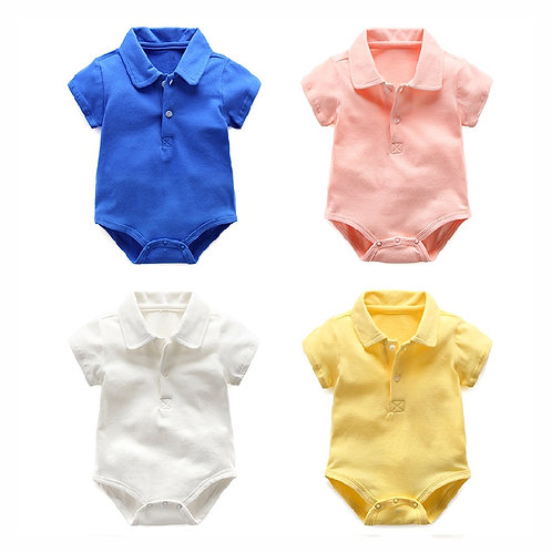 Polo Collar Romper/Bodysuits