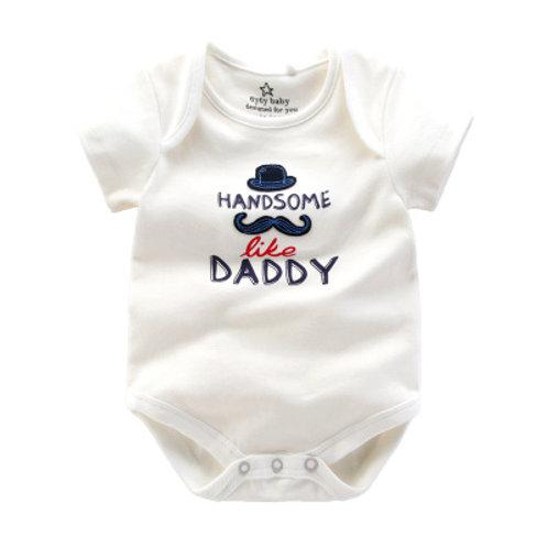 """Handsome Like Daddy"" Romper/Bodysuits"