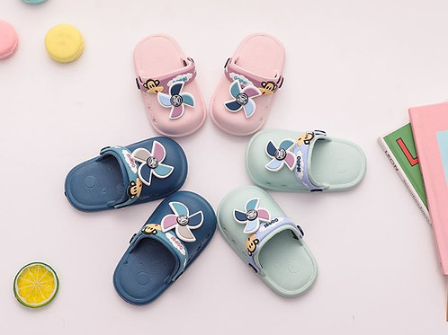 Cute Fan Design Rubber Sandal for Baby Girl & Boy