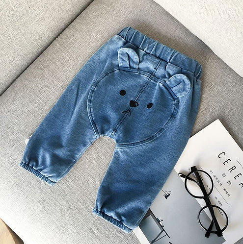 Baby Jeans Pant with Bear Design