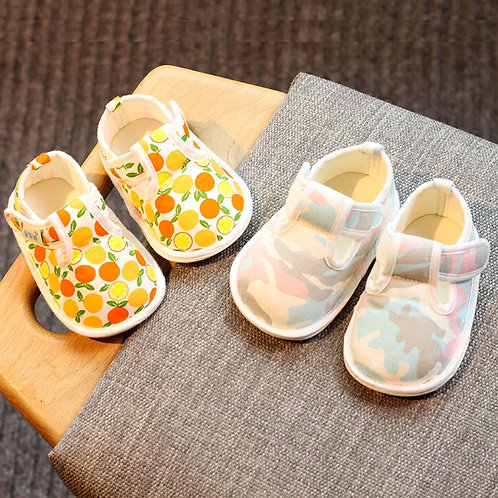 Baby Girl Breathable Rubber Sole Non-Slip Shoe
