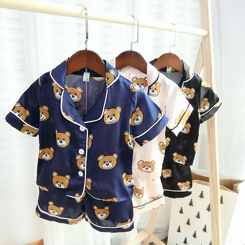 Bear Print Short Sleeve Pajama Unisex