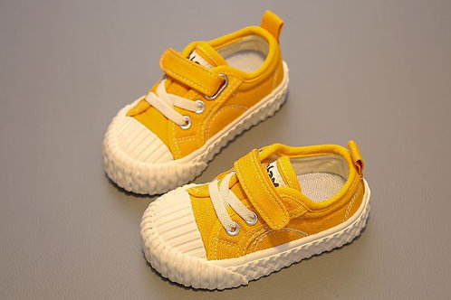 Simple Yellow Canvas Shoe for Baby Girl / Boy