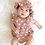 Thumbnail: Ruffle Sleeve Pink Polka Dot Suspender with Hat