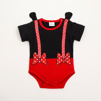 [Clearance Sale] Minnie Hand Design Suspender Like Baby Romper/Bodysuits