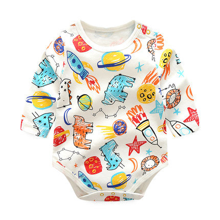Colorful Pencil Sketch Print Baby Romper/Bodysuits
