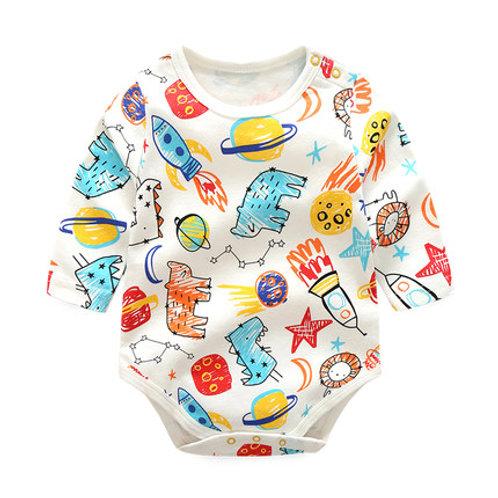 Colorful Pencil Sketch Print Baby Romper/Bodysuits