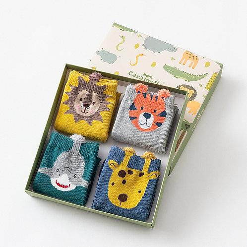 Cute Animal Warm Long Socks Gift Box
