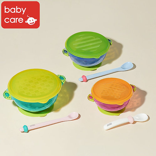 Babycare Spill-Proof Suction Bowl Set (3 in 1)