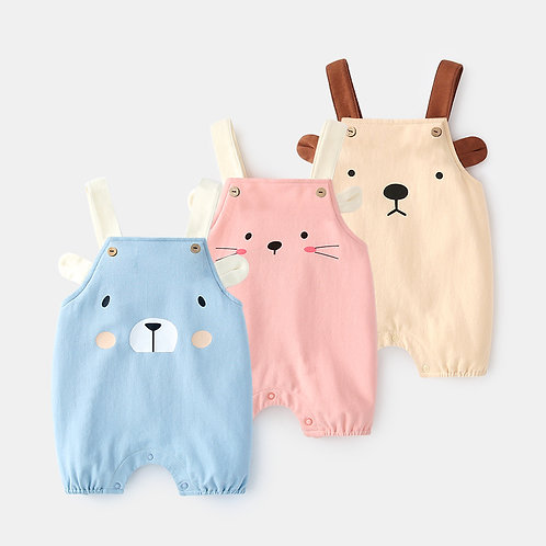 Bear Print Plain Color Adjustable Suspender for Baby Girl & Boy