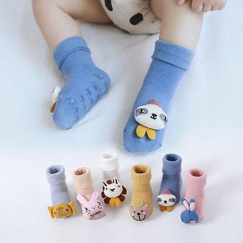 Animal 3D Figure Socks For Baby Girl / Boy (3in1 Pack)