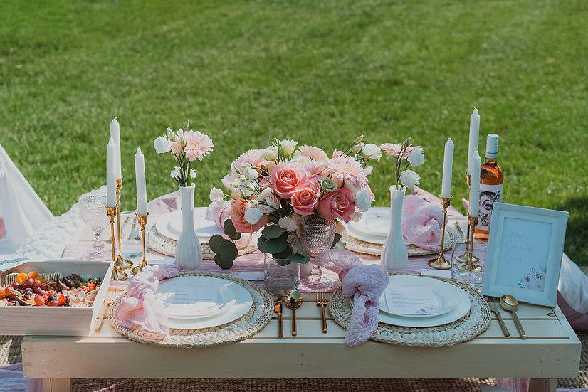 Pretty N' Pink Luxury Picnic Rental - Starting at 2 People