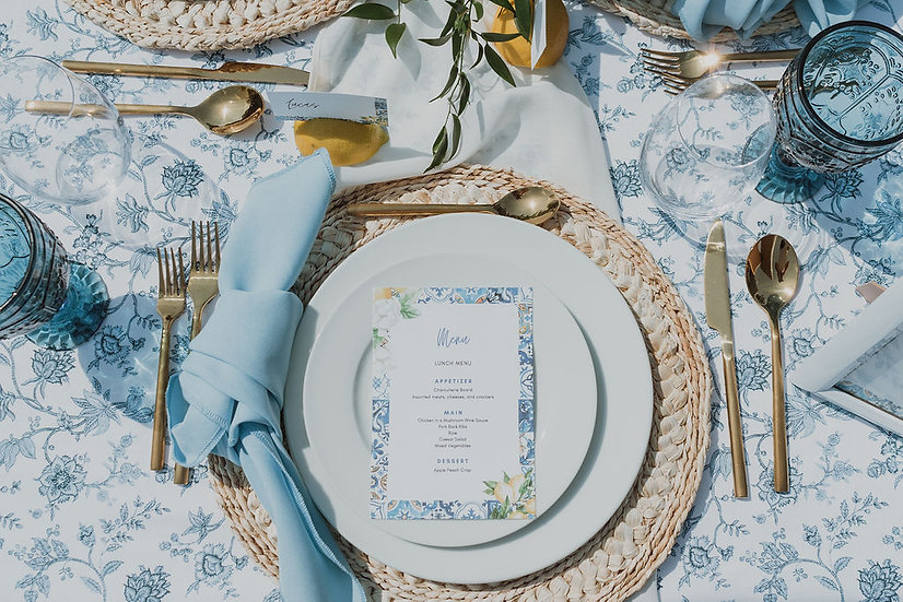 Capri Tablescape Rental - Starting at 2 People