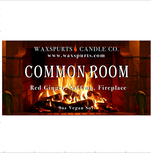 Red Common Room candles and wax melts