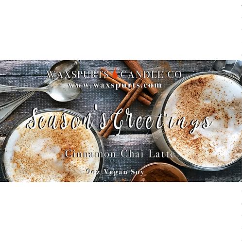 Season's Greetings holiday candles and wax melt