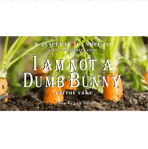 I Am Not a Dumb Bunny Zootopia inspired candles and wax melts