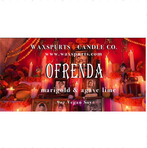 Ofrenda candles and wax melts