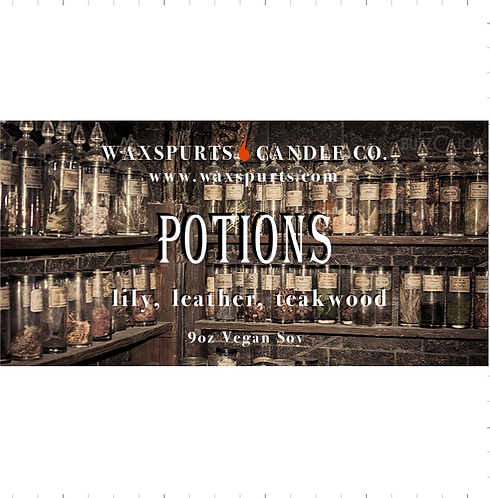Potions candles and wax melts